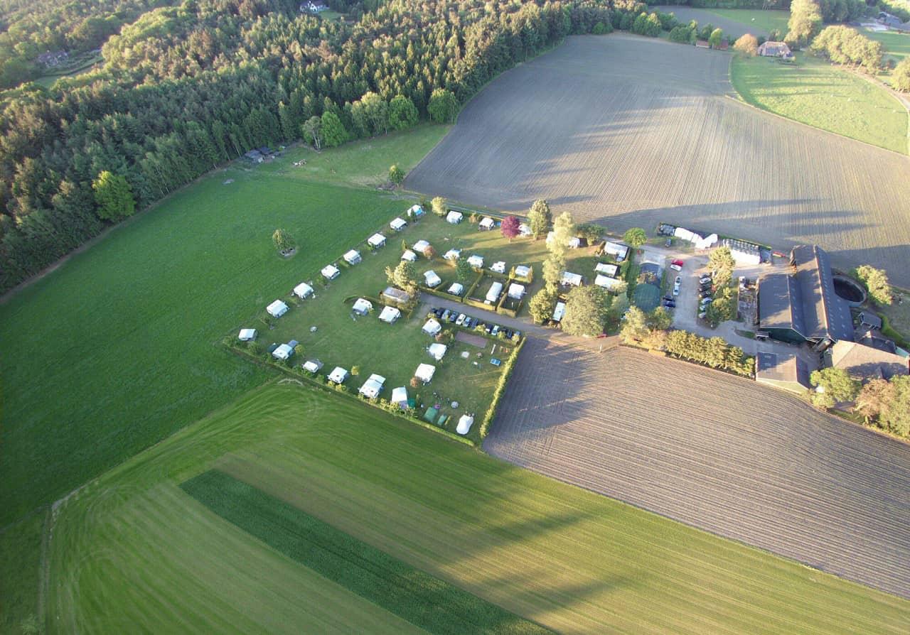 Luchtfoto van camping de prinsenhoeve - camping de prinsenhoeve